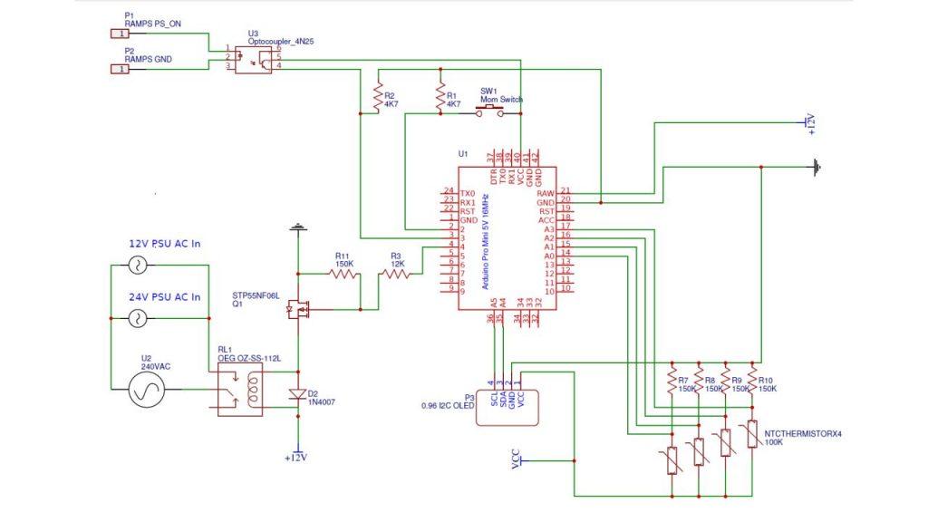 Arduino Power Control Schematic
